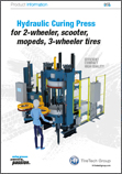 Hydraulic Curing Press for 2-wheeler, scooter, mopeds, 3-wheeler tires