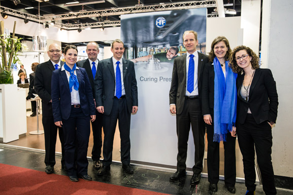 HF Curing Presses-Team at TireTechnology-Expo 2014