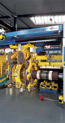 HF's tire building machinery is designed to be easy to operate and maintain, and can		be easily upgraded in the future thanks to regular updates and optional functional modules
