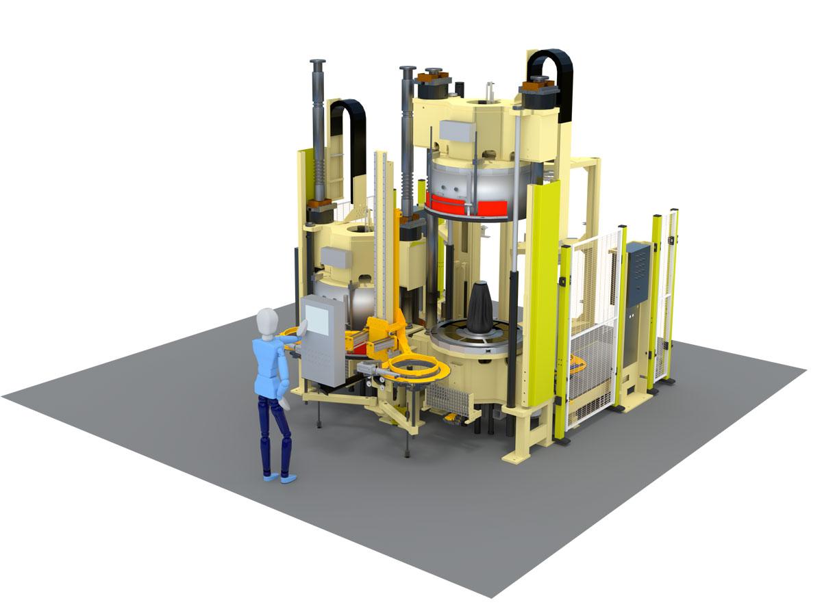 Hydraulic curing press for passenger car (PCR) – HF TireTech